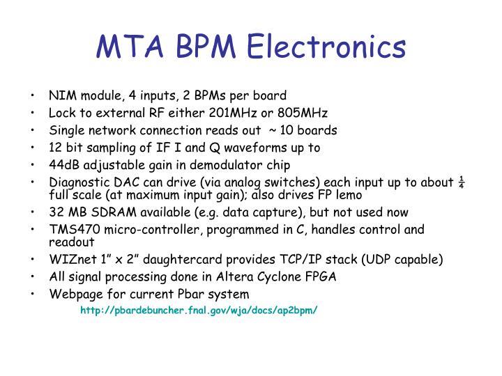 mta bpm electronics n.