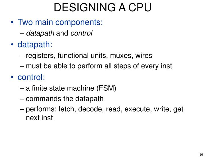DESIGNING A CPU