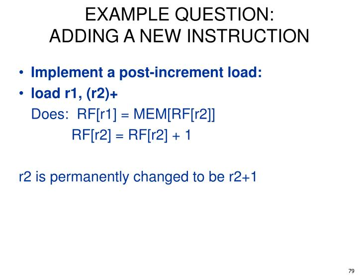 EXAMPLE QUESTION: