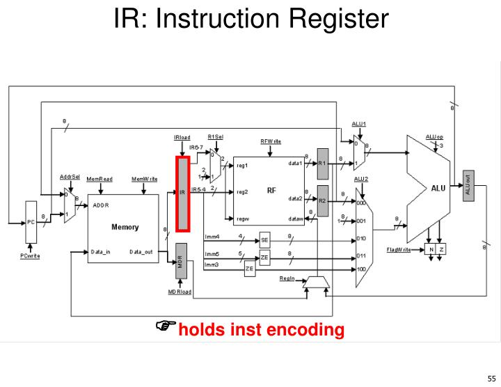 IR: Instruction Register
