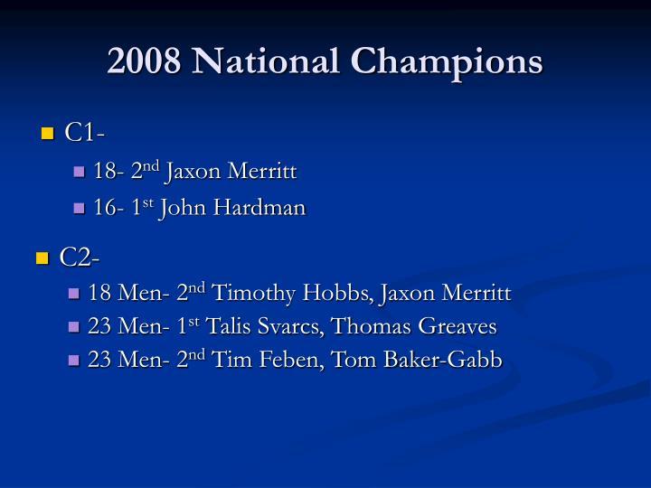 2008 National Champions