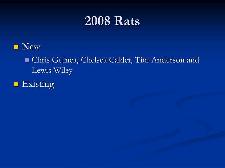 2008 Rats