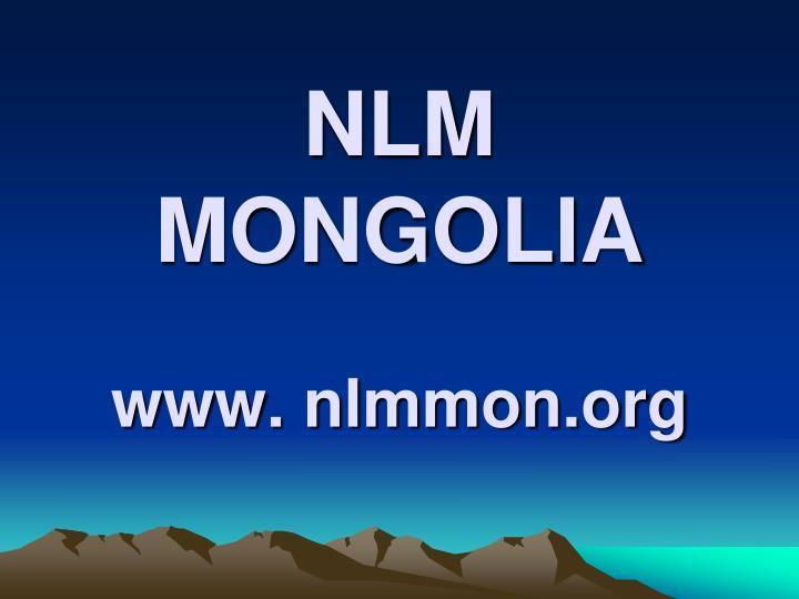 nlm mongolia www nlmmon org n.