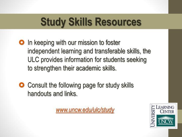 Study Skills Resources