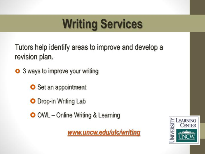Tutors help identify areas to improve and develop a