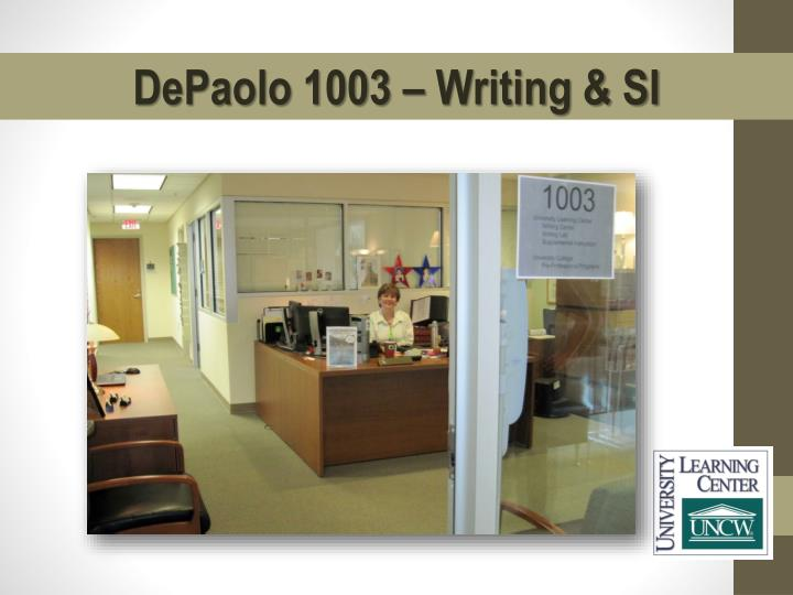 DePaolo 1003 – Writing & SI