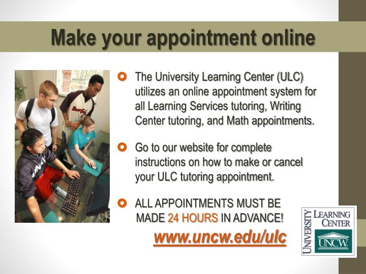 Make your appointment online