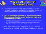 why do uq for aircraft structures cont
