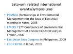 sato umi related international events symposiums
