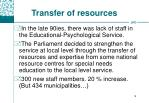 transfer of resources