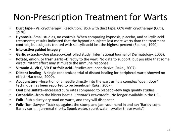 Non-Prescription Treatment for Warts