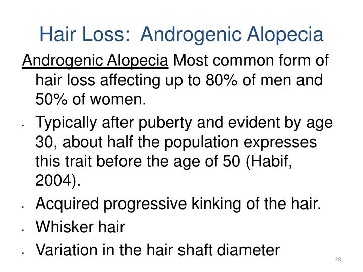 Hair Loss:  Androgenic Alopecia