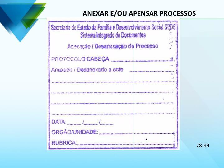ANEXAR E/OU APENSAR PROCESSOS