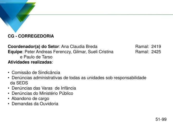 CG - CORREGEDORIA