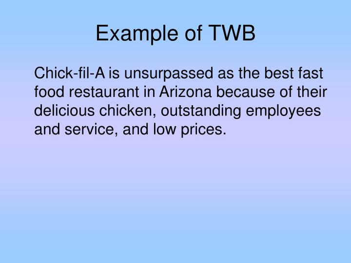 Example of TWB