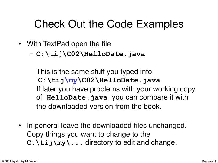 Check Out the Code Examples
