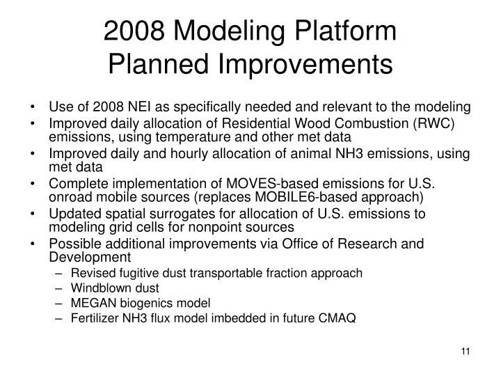 2008 Modeling Platform