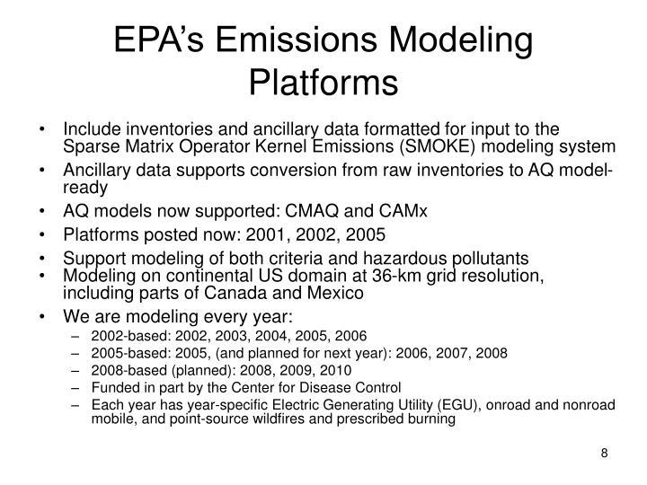 EPA's Emissions Modeling Platforms