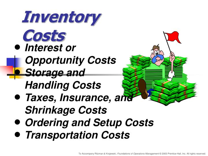 inventory costs n.