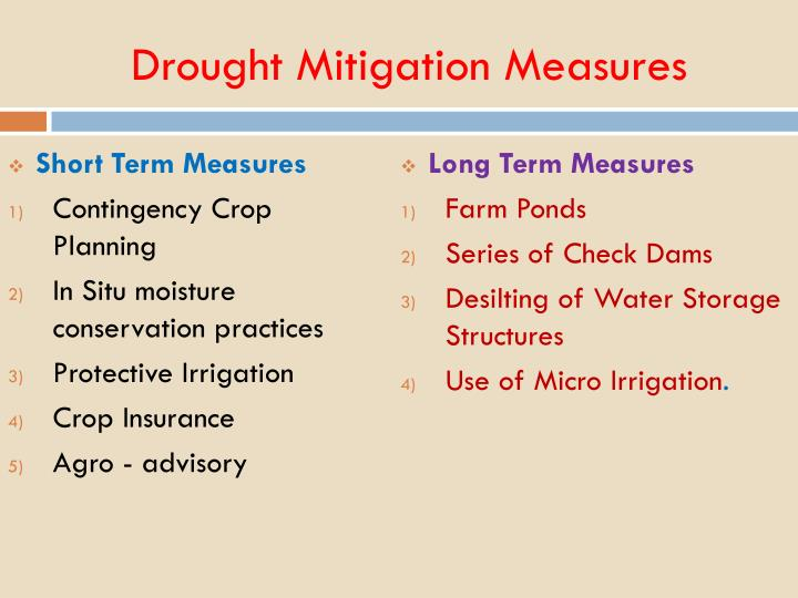 Drought Mitigation Measures