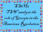 ss8h3 tsw analyze the role of georgia in the american revolution