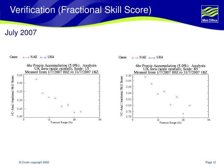 Verification (Fractional Skill Score)