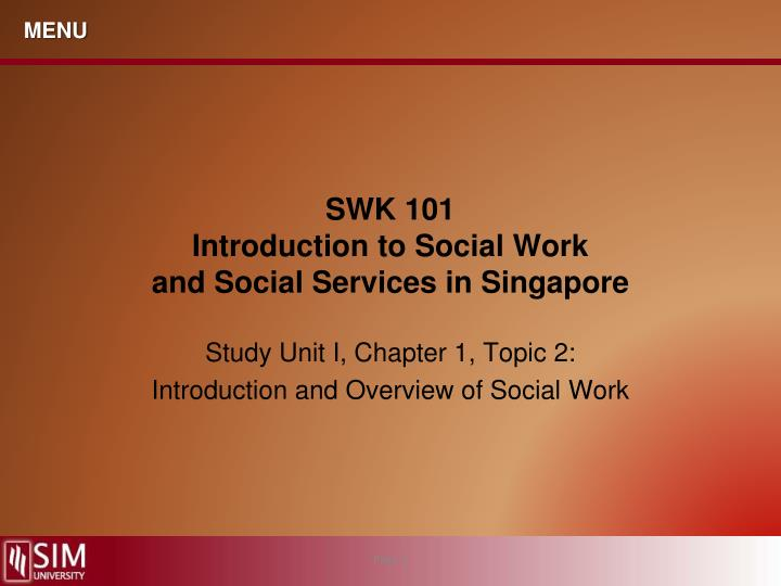 swk 101 introduction to social work and social services in singapore n.