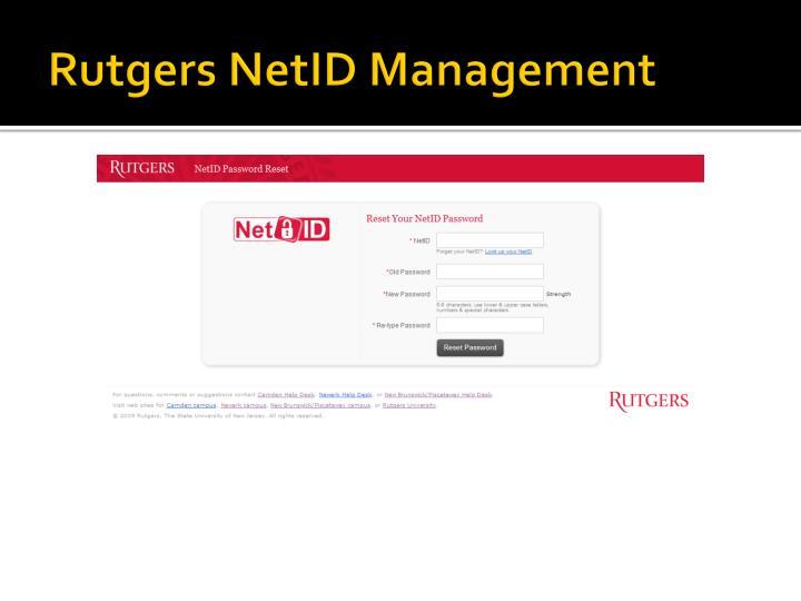 Rutgers NetID Management