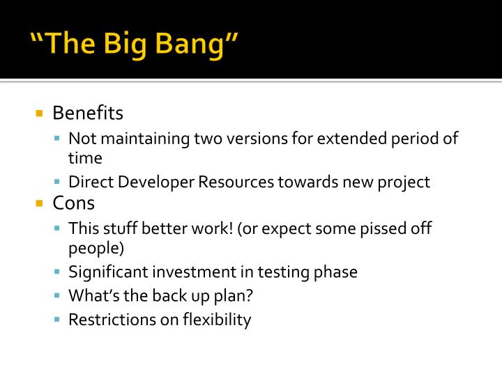 """""""The Big Bang"""""""