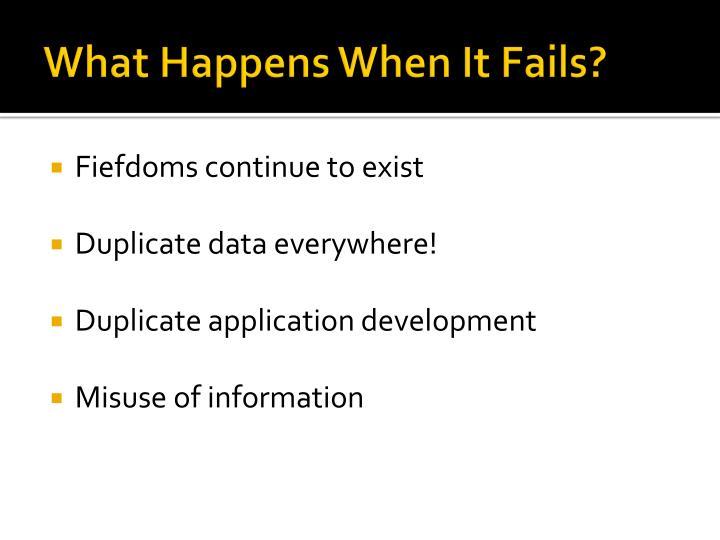 What Happens When It Fails?