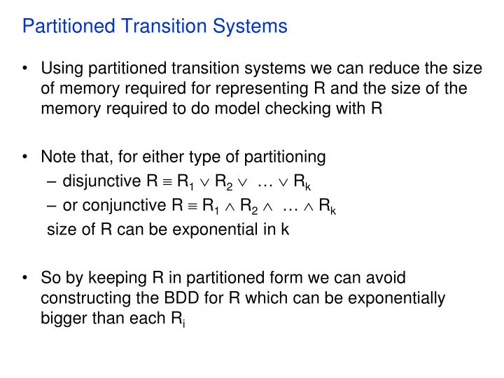Partitioned Transition Systems