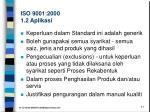 iso 9001 2000 1 2 aplikasi