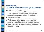 iso 9001 2000 7 0 penghasilan produk atau servis