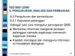iso 9001 2000 8 pengukuran analisis dan pembaikan1