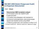 iso 9001 2000 sistem pengurusan kualiti 4 2 keperluan dokumentasi