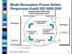 model berasaskan proses sistem pengurusan kualiti iso 9000 2000
