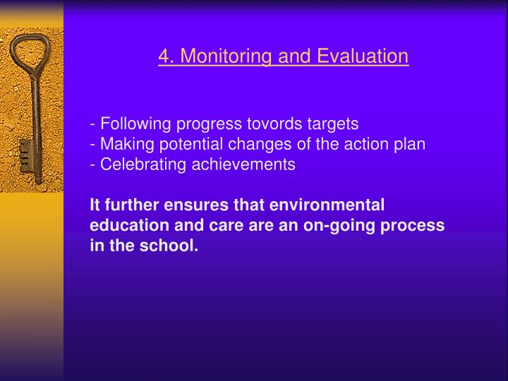 4. Monitoring and Evaluation