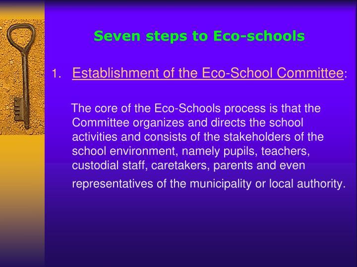 Seven steps to Eco-schools