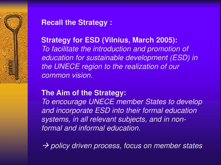 Recall the Strategy :