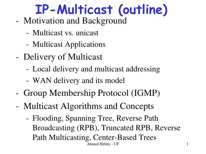 ip multicast outline n.