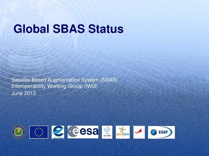 global sbas status n.
