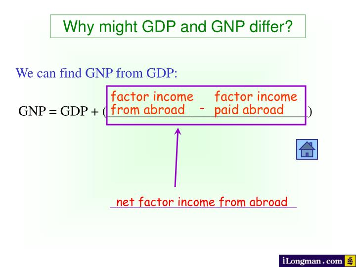 Why might GDP and GNP differ?