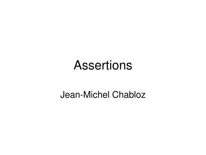 assertions n.