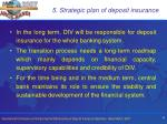 5 strategic plan of deposit insurance