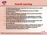 overall learning