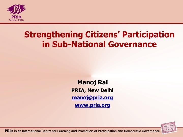 strengthening citizens participation in sub national governance n.