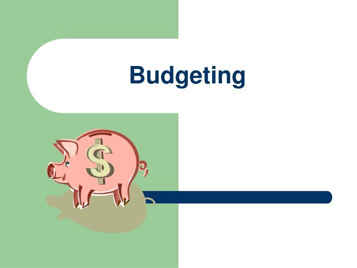 budgeting n.