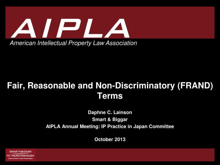 Fair reasonable and non discriminatory frand terms