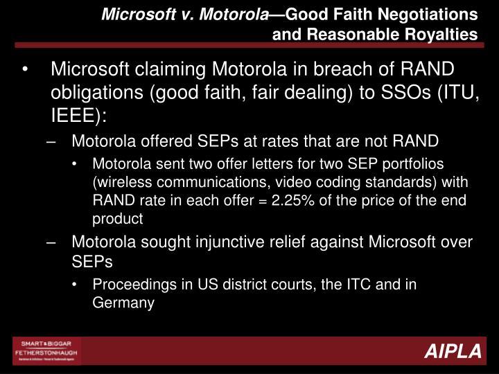 Microsoft v. Motorola
