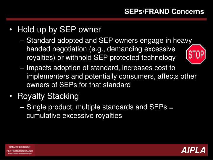 SEPs/FRAND Concerns